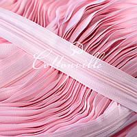 Молния спиральная прочная #3 нежно - розовая, фото 1