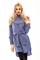 Платье- рубашка 231 серая принт
