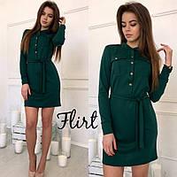 Трикотажное платье-рубашка 1250(цвета)