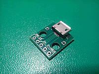 Плата переходник micro USB to DIP 5pin, фото 1