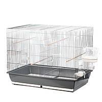 Клетка для птиц Messi II хром (78x48x60)