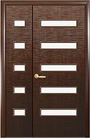 Полуторная (двустворчатая) межкомнатная дверь ФОРТИС САХАРА, 5S: ПВХ DeLuxe