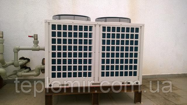 Монтаж тепловых насосов CliTech CAR-40GB для нагрева бассейна и ГВС 2