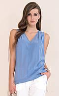 Женская летняя блуза джинсового цвета без рукава. Модель Antonia Zaps, коллекция весна-лето 2017.
