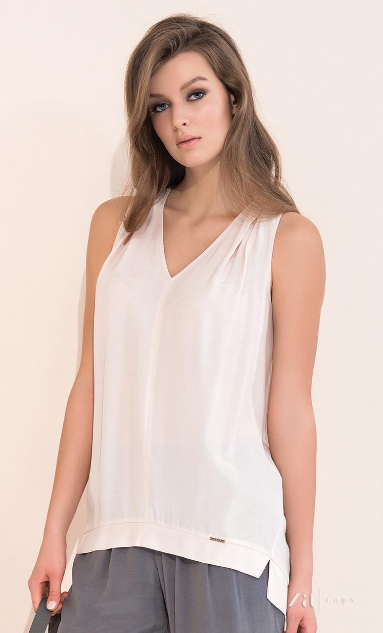 81e1c6cfe33 Женская летняя блуза нежно-розового цвета без рукава. Модель Antonia Zaps