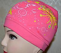 Детская шапочка, тонкая, трикотажная, для девочки.