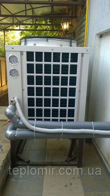 Монтаж теплового насоса CAR-12XB для отопления дома