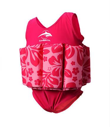 Купальник-поплавок Konfidence Floatsuits, Цвет: Hibiscus/ Pink, M/ 2-3 г , фото 2