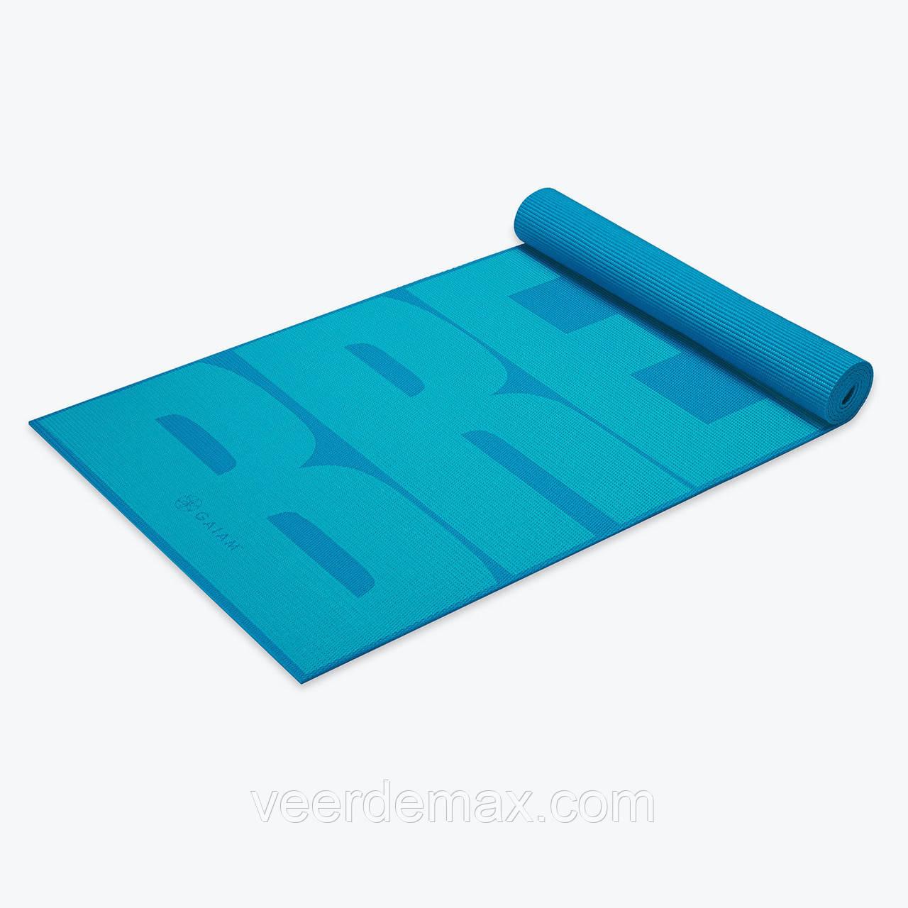 """Коврик для йоги """"BREATHE"""" YOGA MAT (5мм) американской фирмы Gaiam"""