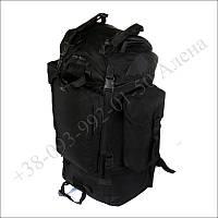 Туристический рюкзак 75 литров черный для туризма, армии, рыбалки кордура
