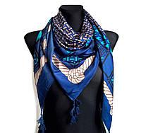 Платок Италия 110*110 см, темно-синий