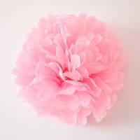 Помпон шар из тишью розовый 25 см