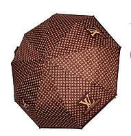 Женский зонт реплика Louis Vuitton полуавтомат коричневый