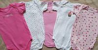 Набор из 5 штук бодики с коротким рукавом для девочки 6-12 мес из США., фото 1