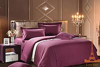 Love you  семейный комплект постельного белья сатин-страйп фиолетовый