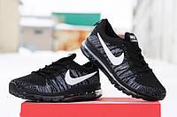 Мужские кроссовки Nike Air Max 2016, плотный текстиль, черные / кроссовки мужские Найк Аир Макс, стильные