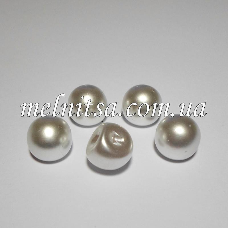 Пуговицы-жемчужины круглые, 12 мм, белый (5 шт)