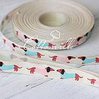 Тесьма декоративная хлопковая Собачки (15 мм)