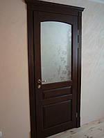 Міжкімнатні дерев'яні двері з порталом (модель 5)