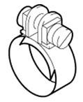 Хомут D=11мм топливного шланга