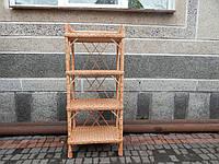 Плетеная этажерка из лозы на 4 полки