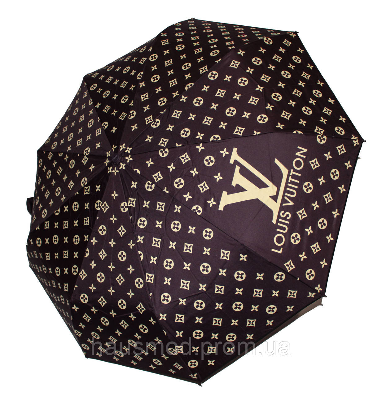 Женский зонт реплика Louis Vuitton полуавтомат баклажан