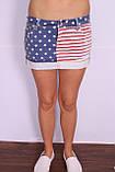 Женская короткая джинсовая юбка QUEEN  (код 7512), фото 2