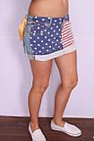 Женская короткая джинсовая юбка QUEEN  (код 7512), фото 3