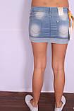 Женская короткая джинсовая юбка QUEEN  (код 7512), фото 4