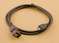 Кабель USB 2.0 - 0.8м AF/Micro 5P OTG ATcom, удлинитель, черный