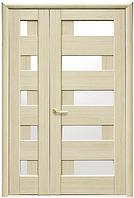 Полуторная (двустворчатая) межкомнатная дверь  НОСТРА ПИАНА, ПВХ DeLuxe