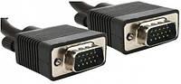 Кабель VGA - 10.0м CC-PPVGA HD15M/HD15M Black с 2-мя ферритовыми кольцами