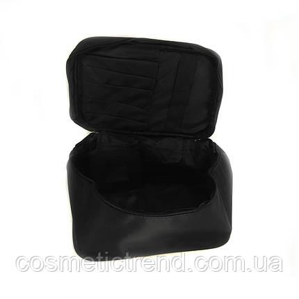 Косметичка женская текстильная (органайзер/бьюти-бокс) CR498/1-black 19*11*12 см, фото 2