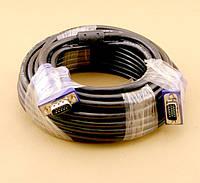 Кабель VGA - 10.0м CC-PPVGA HD15M/HD15M Black (тонкий)
