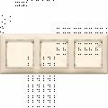 Рамка 3-постовая Legrand Valena (слоновая кость) 774353