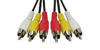 Кабель Audio-Video 3RCA > 3RCA, 3 тюльпана-(M) > 3 тюльпана (M) 5,0 м PE packing