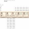 Рамка 5-постовая Legrand Valena (слоновая кость) 774355