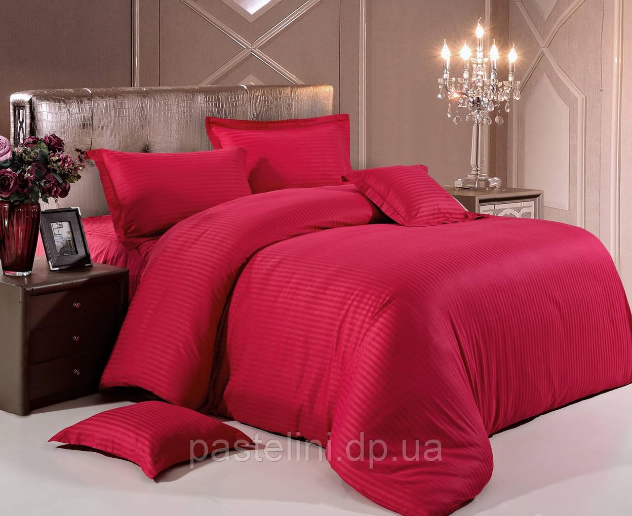 Love You  постельное бельё сатин-страйп полуторный Красный