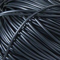 Шнур Резиновый Синтетический полый, Цвет: Черный, Размер: Толщина 3мм, Отверстие 0.8мм, около 240м/связка, (УТ100005658)
