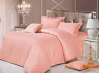 Love You  постельное бельё сатин-страйп полуторный персик