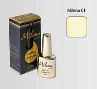 Гель-лак для ногтей Milena 01 слоновая кость, бескислотный, гипоаллергенный, высоко пигментированный, не течет