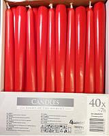 Свеча коническая красная (1 шт)