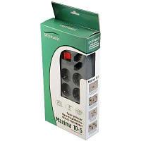 Фильтр сетевой GreenWave Maxima 10-5, graphite, 10 розеток, 5,0м