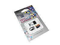 Карта памяти microSDXC, 64Gb, Class10 UHS-I, Team, USB CardReader (TUSDX64GUHS29)