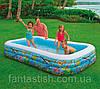 """Детский надувной бассейн INTEX 58485 """"Немо"""" прямоуг,3секц.,винил(6+ лет),рем комплект,305*183*56см IKD /35-33"""