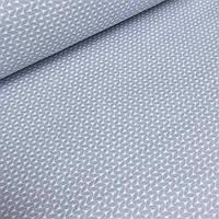 Хлопковая ткань с косичками серого цвета №4-426