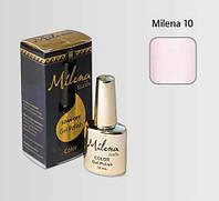 Гель-лак для ногтей «Milena» 10 кремовый (бескислотный, гипоаллергенный, высоко пигментированный, не течет)