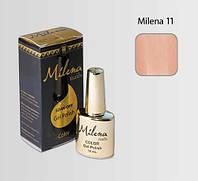 Гель-лак для ногтей Milena 11 бежево-красный, бескислотный, гипоаллергенный, высоко пигментированный, не течет