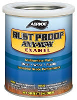 Краска по металлу RUST PROOF ANY-WAY Enamel (США) 0.96