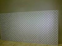Декоративная  перфорированная панель Альберта Арктик 1200х600х3,5 мм